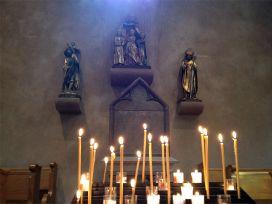 рака святых мучениц Веры, Надежды, Любви и матери их Софии в храме св. Трофима